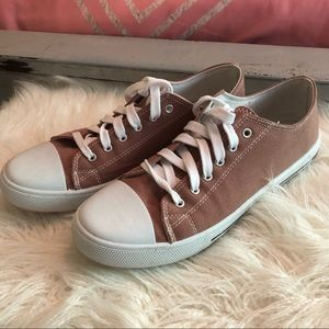 Pink converse-style sneakers